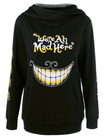 Affordable We Are All Mad Here Hoodie - XL BLACK Mobile