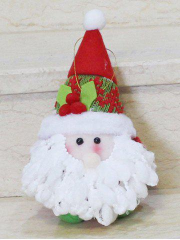 Latest Cute Santa Claus Hanging Doll Pendant Christmas Decoration - RED WITH WHITE  Mobile