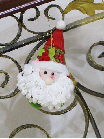 Cute Santa Claus Hanging Doll Pendant Christmas Decoration - RED/WHITE