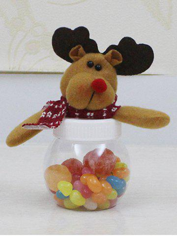 Cheap Christmas Cute Plush Elk Toy Candy Jar
