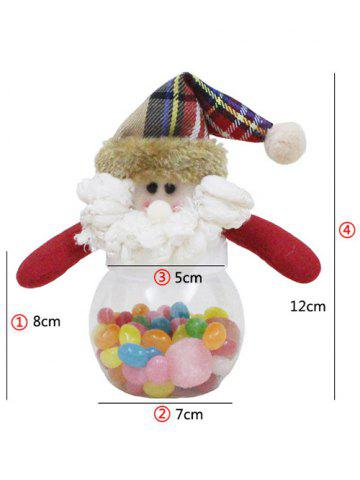Best Christmas Cute Plush Santa Toy Candy Jar - TRANSPARENT  Mobile