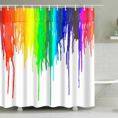 Shop Colorful Splash-Ink Waterproof Polyester Shower Curtain COLORMIX L