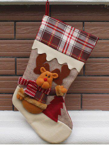 Elk Pattern Hanging Candy Present Sock Party Decoration - Colormix - 2xl