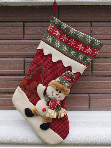 Store Merry Christmas Decoration Hanging Candy Present Sock - RED  Mobile