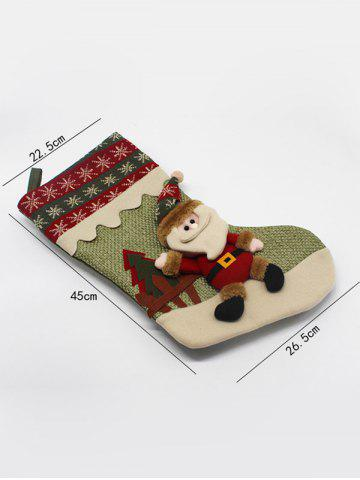 Sale Merry Christmas Santa Claus Hanging Candy Present Sock - GREEN  Mobile