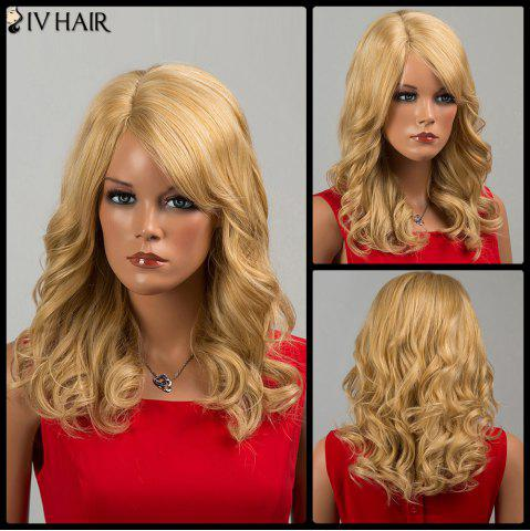 Siv Hair Long Side Bang Curly Human Hair Wig - CITRUS