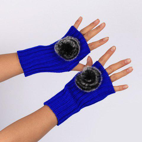 Shops Winter Pom Ball Knit Fingerless Gloves