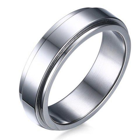 Hot Geometric Shape Rotatable Alloy Ring - 9 SILVER Mobile