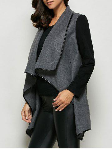 Hot One Button Asymmetrical Coat