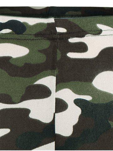 New High Waisted Camouflage Leggings - L CAMOUFLAGE COLOR Mobile