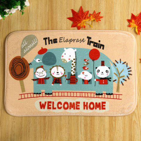 Hot Cartoon Animal Antislip Water Absorb Door Carpet - 40CM*60CM KHAKI Mobile