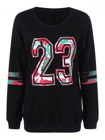 Unique 23 Graphic Plus Size Pullover Sweatshirt