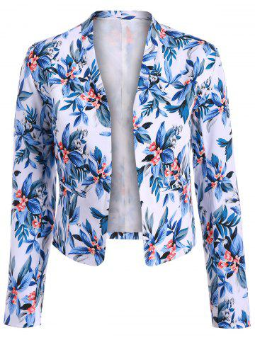 Shop Short Floral Open Front Crop Blazer