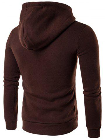 Hot Kangaroo Pocket Design Pullover Hoodie - M COFFEE Mobile