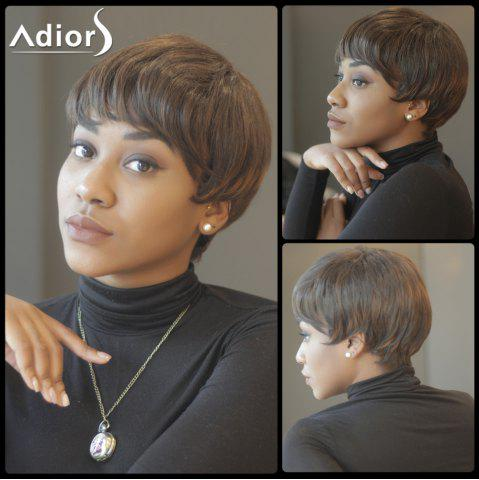 Online Spiffy Short Capless Straight Inclined Bang Synthetic Wig