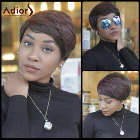 Shops Short Slightly Curled Double Color Neat Bang Synthetic Wig COLORMIX