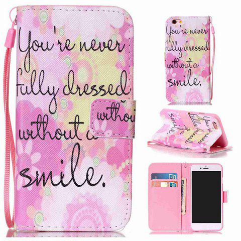 Buy Smile Quote Leather Wallet Stand Case For iPhone 6Plus