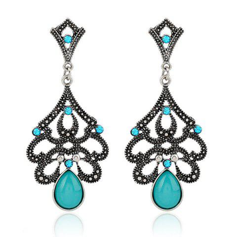 Store Artificial Opal Teardrop Earrings
