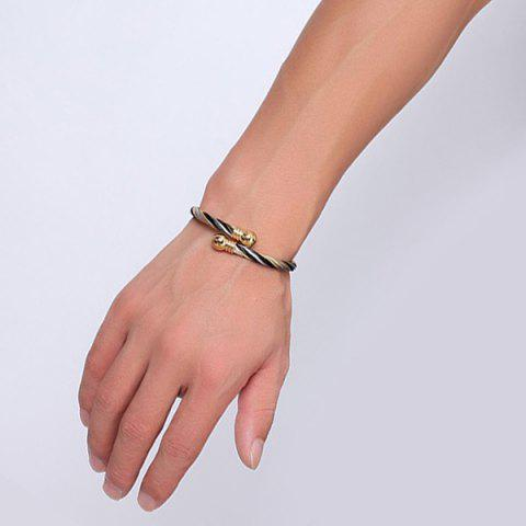 Affordable Single Circle Cable Bracelet and Ring - GOLDEN  Mobile