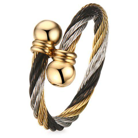 Best Single Circle Cable Bracelet and Ring - GOLDEN  Mobile