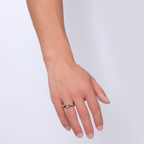 Unique Single Circle Cable Bracelet and Ring - GOLDEN  Mobile