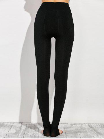 Online Stretchy Stirrup Leggings - ONE SIZE BLACK Mobile