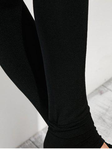 Discount Stretchy Stirrup Leggings - ONE SIZE BLACK Mobile
