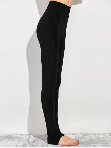 Outfit Stretchy Stirrup Leggings - ONE SIZE BLACK Mobile