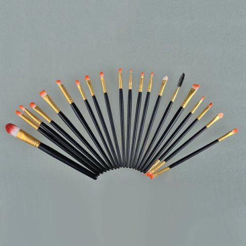 Trendy 20 Pcs Fiber Eye Makeup Brushes Set