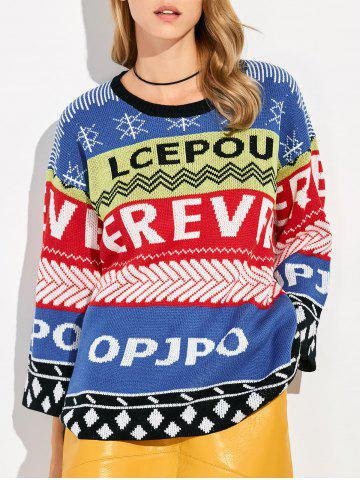 Chic Pullover Patterned Crew Neck Sweater