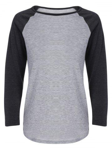 Store Raglan Sleeves T-Shirt GRAY ONE SIZE