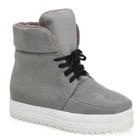 Buy Suede Platform Tie Up Ankle Boots