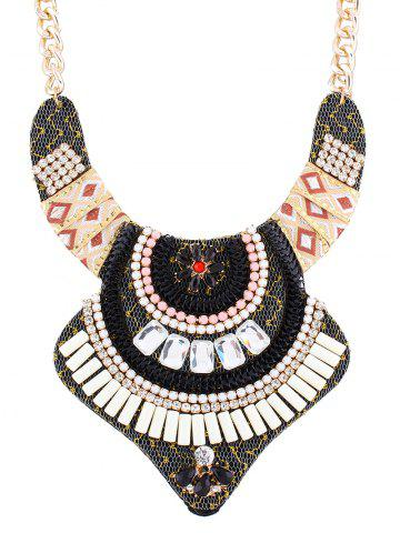 Outfits Rhinestone Alloy Flower Vintage Necklace