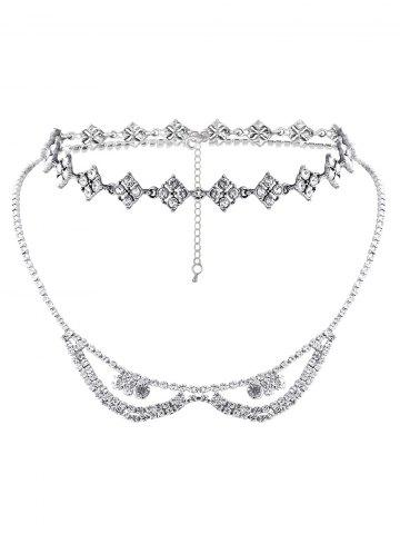 Affordable Rhinestoned Layered Necklace