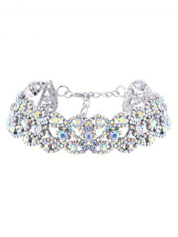 New Hollowed Rhinestoned Necklace SILVER