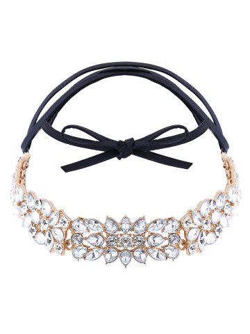 Cheap Artificial Leather Rhinestone Choker Necklace