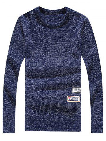 Outfits Crew Neck Appliques Long Sleeve Sweater