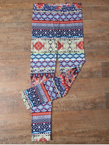 Online Retro Print Skinny Leggings COLORMIX XL