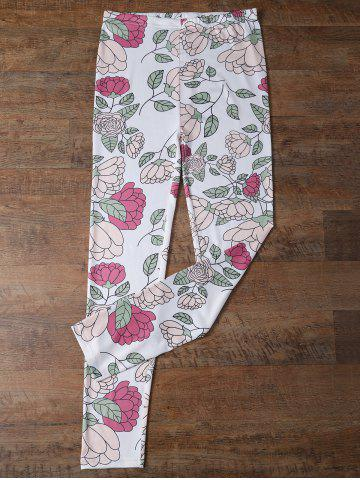 Hot Elastic Waist Floral Leggings