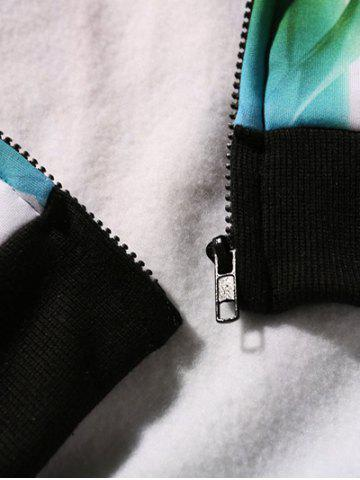 Online Bamboo 3D Printed Zip Up Hoodie - 5XL COLORMIX Mobile