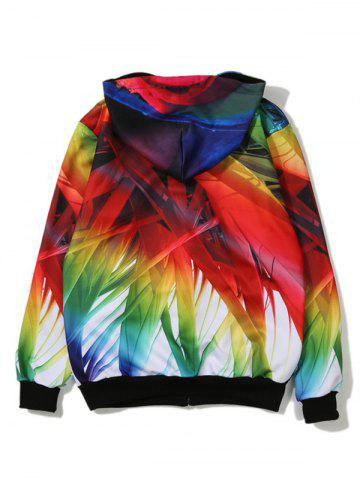 Outfit Bamboo 3D Printed Zip Up Hoodie - XL COLORMIX Mobile
