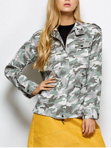 Latest Camouflage Field Jacket CAMOUFLAGE COLOR 2XL