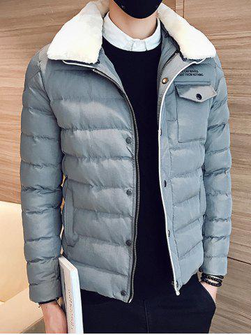 Hot Removable Faux Fur Collar Zip Up Padded Jacket