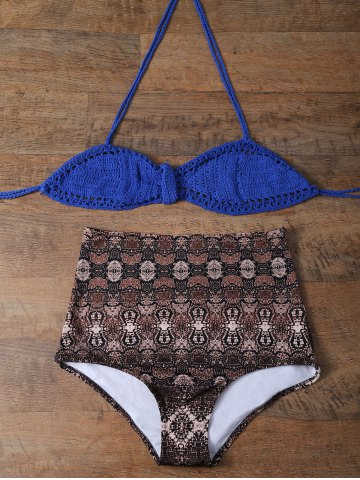 Latest Knitted Printed High Rise Bikini