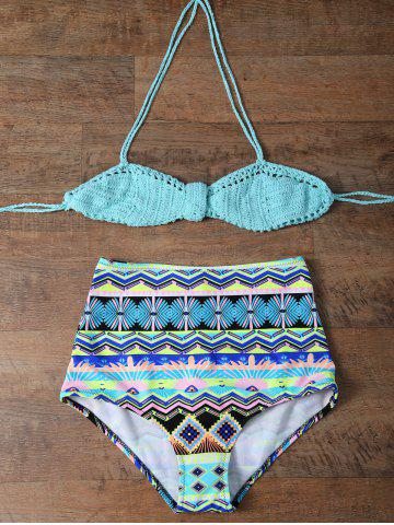 Outfits Crochet Multiway High Waisted Bikini TURQUOISE 2XL