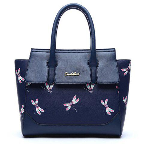Cheap Dragonfly Printed Winged Handbag