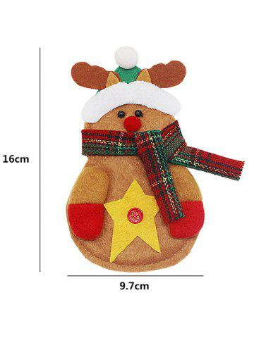 Shop Christmas Party Table Decor Deer Shape Forks Tableware Cover Bag - YELLOW  Mobile