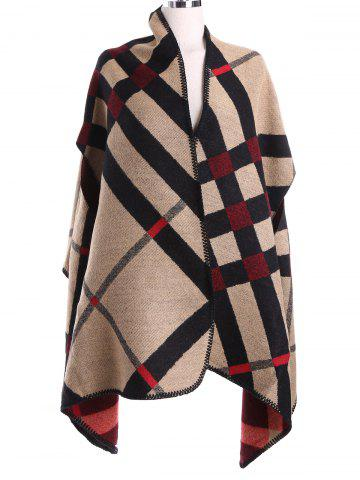 Unique Vintage Geometry Pattern Cashmere Cape Pashmina