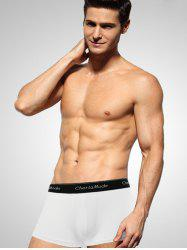 Cherlamode Solid Color U Pouch Design Boxer Brief For Men - WHITE