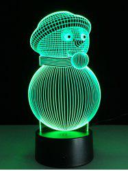 3D Christmas Snowman Shape Touch Colorful Night Light